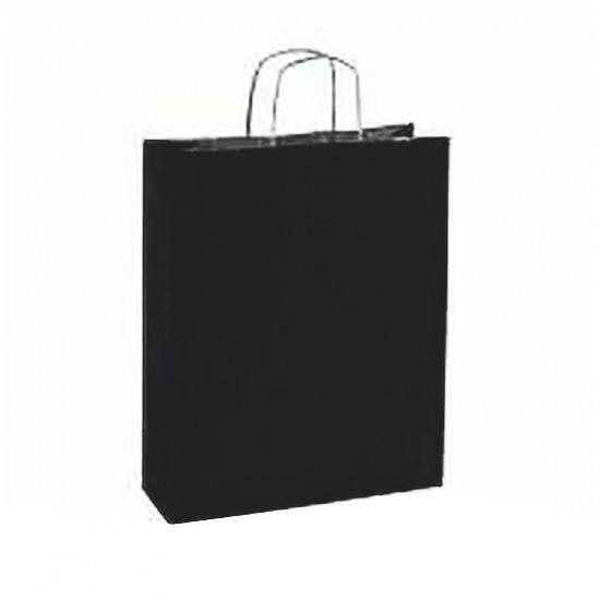 10 stuks Papieren draagtassen zwart