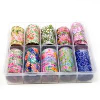 Transfer-Nagelfolie bloem box 10-stuks nr. 2