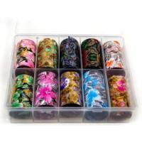 Transfer-Nagelfolie bloem box 10-stuks nr. 9