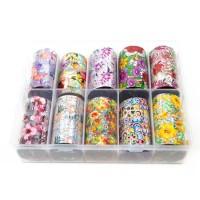 Transfer-Nagelfolie bloem holografisch box 10-stuks nr. 4
