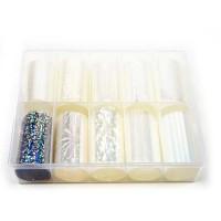 Transfer-Nagelfolie wit transparant box 10-stuks nr. 19