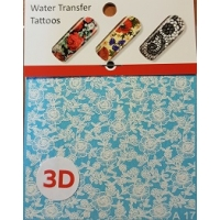Water tranfer tattoos- Water stickers - A17-3D White