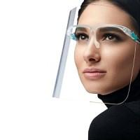 transparant gezichtsmasker-face shield met bril