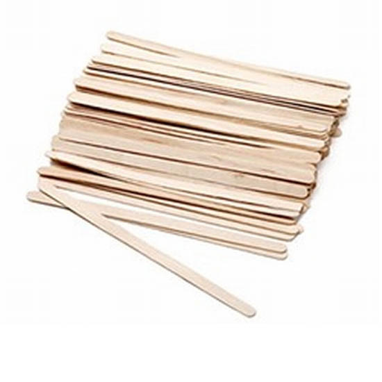 Houten spatels: Extra smal 100 stuks (110 x 5mm)